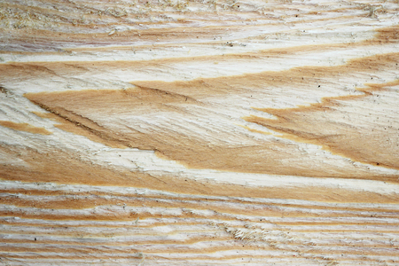 Texture of a wooden cut after sawing a board with a circular saw.