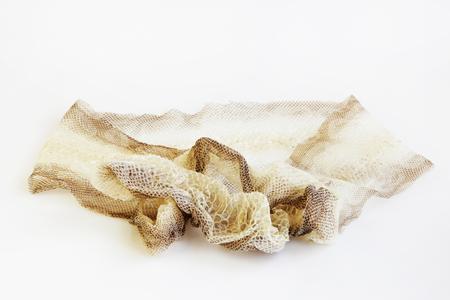 jacket cast-off skin of snake Royal Python on a white background Stock Photo