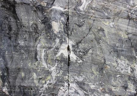 gray natural marble in the canyon, deposit, Karelia Stok Fotoğraf - 108900713