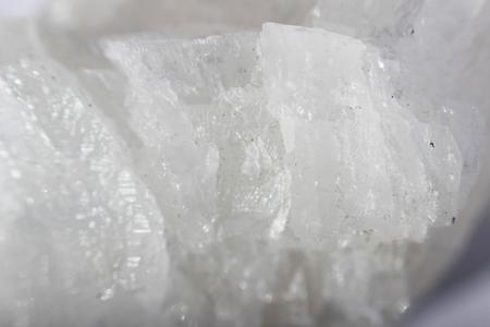 semi precious stone white quartz, macro photography. place of birth - Egypt Stock Photo