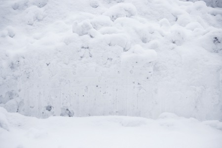 Winter landscape after snowfall and snowdrifts. snow removal in Gatchina Park.