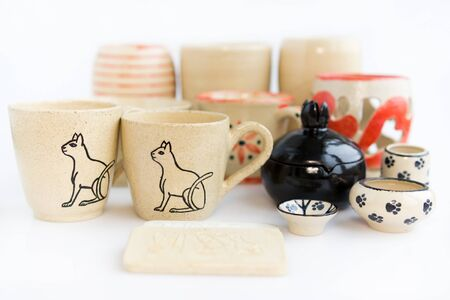 handmade author ceramics, only one a kind. Items for interior decoration, vases, cups, attributes for religion.