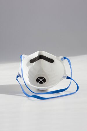 respirator. a means of protection against chemical and virological weapons. means of protection against chemical, bacteriological weapons, allergic agents, gas and dust. Banque d'images - 143582984