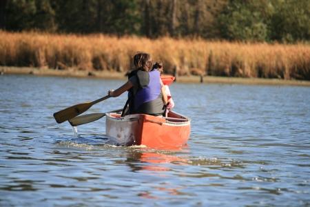 canoeing on lake photo