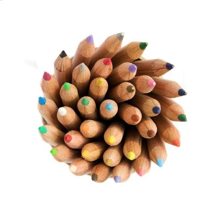 pencils isolated with a clipping path photo