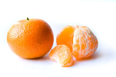 Tangerines on a white background Stock Photo - 6060743