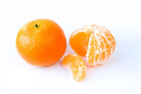 Tangerines on a white background Stock Photo - 6060781