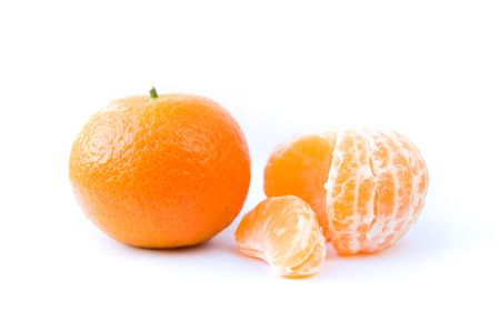 Tangerine on a white background Stock Photo - 6060752