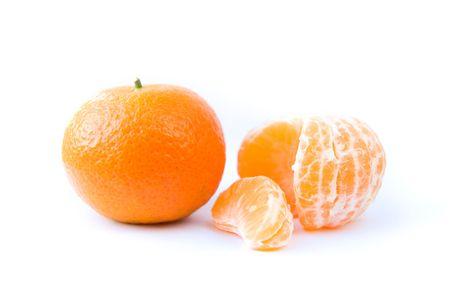 Tangerine on a white background Stock Photo - 6060752