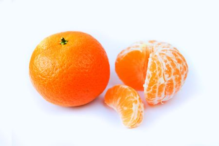 Tangerine on a white background Stock Photo - 6060760