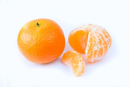 Tangerine on a white background Stock Photo - 6060779