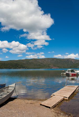 Paulina Lake, Oregon, nice relaxing summer day Stock Photo