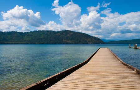 long lake: Priest Lake, northern Idaho, great fishing