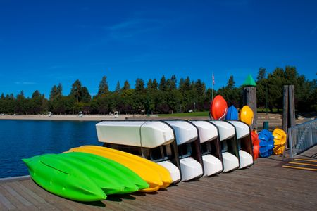 alene: Coeur d alene Idaho, dock in the lake filled with fun toys