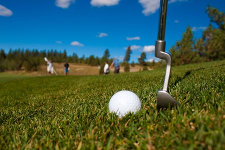 Long day at the golf course in Idaho Banco de Imagens
