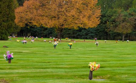 Fall time at the cementary in northern Idaho photo