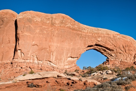 Natural very large  rock formations in Utah, Arches, national park