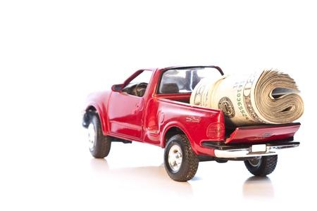 camioneta pick up: recogida cargado con 20 d�lar nos dirige al Banco de proyectos de ley
