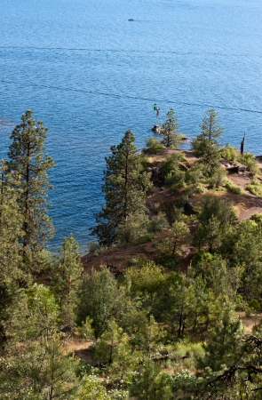 View of coeur d alene lake from tubs hill fresh summer morning Stock Photo - 14167987