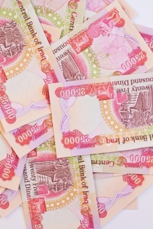 iraq money: Background of twenty five thousand iraqi dinar notes