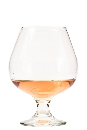 Brandy snifter isolated on a white background with cognac Stock Photo - 15794966