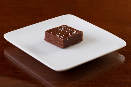 home made sea salted caramels on a plate Stock Photo - 17445899