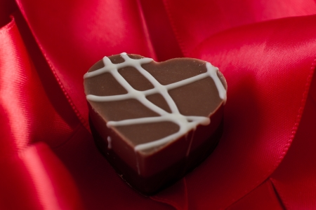 heart shaped chocolate hazelnut with cream and toffee Stock Photo - 17445915