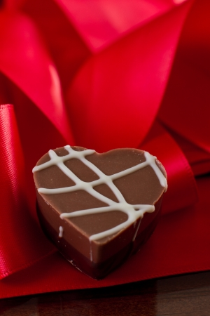 heart shaped chocolate hazelnut with cream and toffee Stock Photo - 17445925