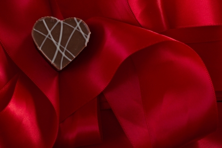 heart shaped chocolate hazelnut with cream and toffee Stock Photo - 17445873