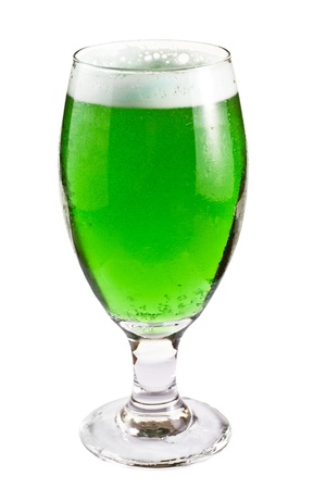 green beer for St. Patricks day isolated on a white background photo