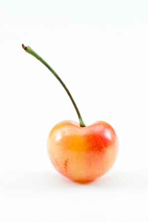 bing: organic bing cherry isolated on a white background Stock Photo
