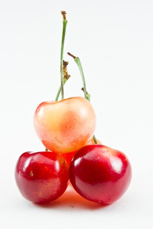 bing: organic bing cherries isolated on a white background