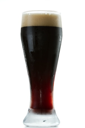 stout: irish stout isolated on a white background Stock Photo