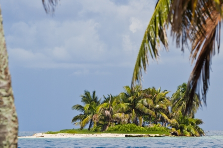 seascape of the coast of Belize with beautiful clear clean water photo