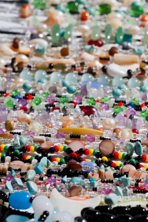 local colorful jewelry for sale in San Pedro Belize, photo