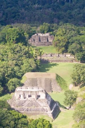 Aerial view of Xunantunich, Mara Ruins in the jungle of Belize photo