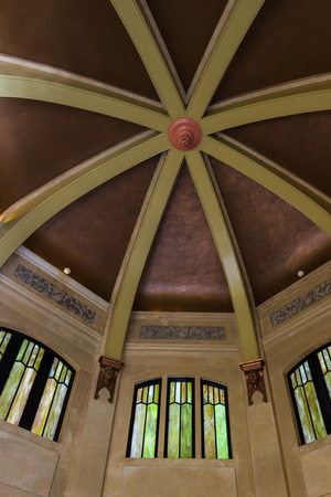 celling: view of the dome celling inside vista house Oregon