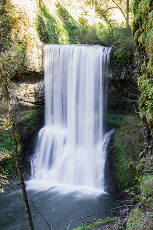 view of the lower south falls in the silver falls state park in oregon photo