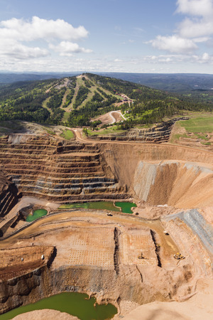 aerial view of an open pit mine in South Dakota
