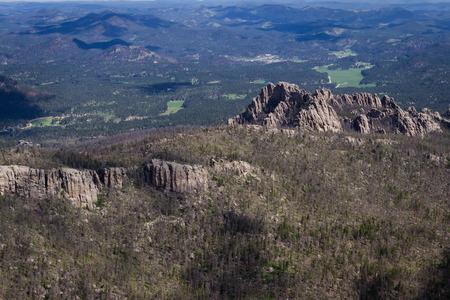 aerial view of the granite formations in the  black hills Zdjęcie Seryjne - 29734675