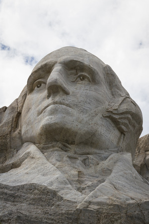 view of George Washington in Mount Rushmore National Monument, South Dakota