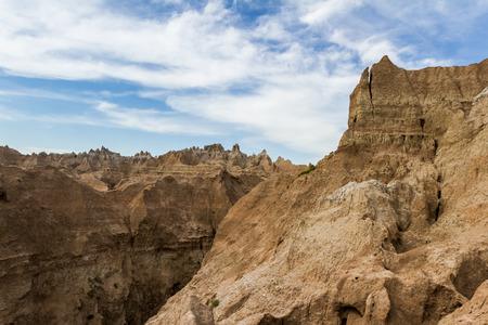 rugged terrain: beautiful rugged terrain of the Badlands of South Dakota Stock Photo