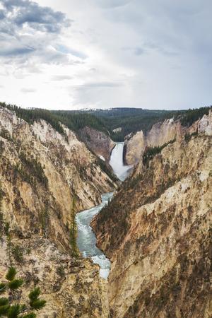 beautiful view of the grand canyon of yellowstone photo