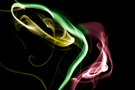 bright colorful abstract smoke background isolated on  a black background