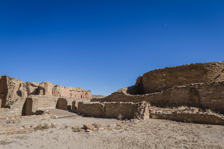 chaco: remains of ancient construction in the dessert of New Mexico, Chaco Canon