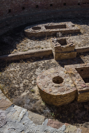 chaco: Kiva in Chaco Canyon National Historic Park in New Mexico Stock Photo
