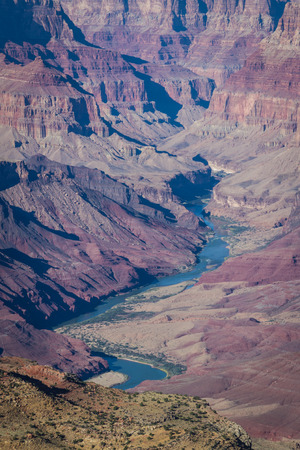 navajo land: view of the Grand Canyon from the south entrance viewpoint Stock Photo