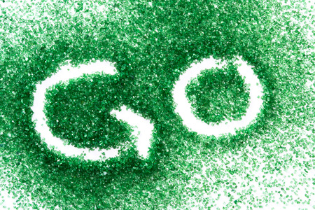 green sugar and the word go for a concept