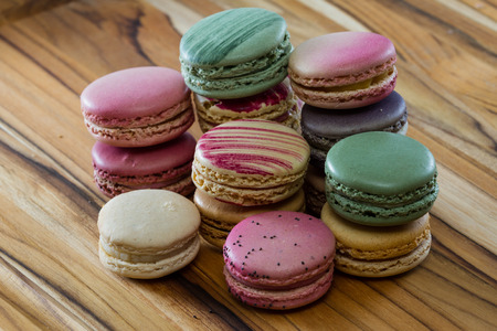 flavors: assortment of classic fresh macaroons in a variety of colors and flavors