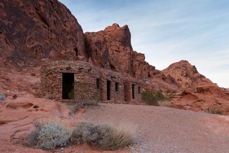sandstone desert landscape in Valley of Fire State Park in Nevada photo